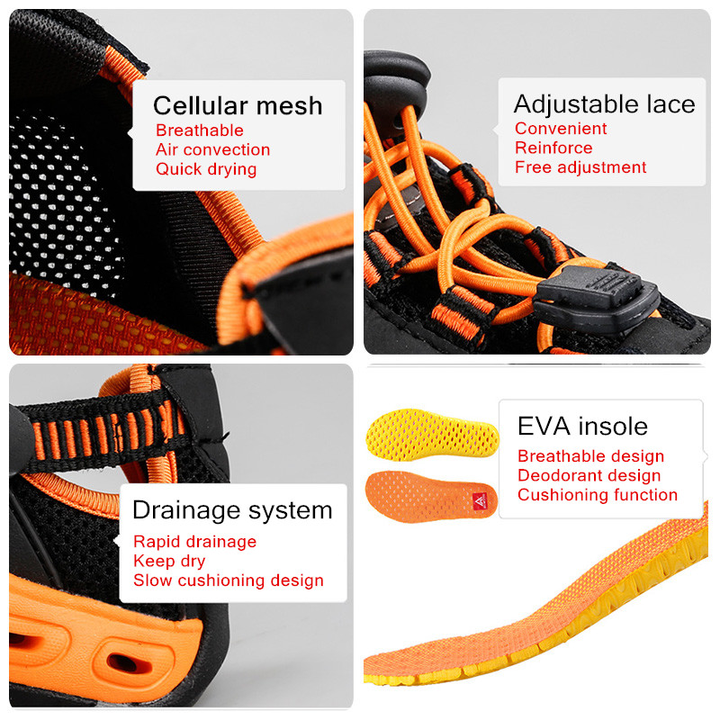 Nouvelle arrivée randonnée en plein air chaussures sapatilhas mulher trekking hommes randonnée scarpe uomo femmes pataugeant amont respirant maille - 5