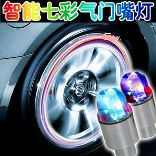Intelligent dual hot wheels cars lamp bicycle wheel lights tyre light Wind glaring color lights 2014 new hot free shipping