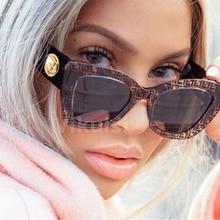 Mulheres Da Moda Olho de Gato óculos de sol femininos 2019 Nova Moda Big  Quadro vidros Do Vintage Preto óculos de Sol CatEye fem. 3207b0ce54