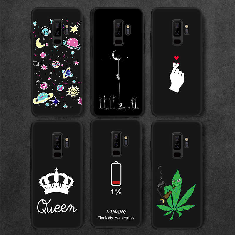 Siliocne Painted TPU Case For Samsung Galaxy S9 S8 Plus Cute Cartoon Pattern Slim Matte Cover for Samsung Note 9 8 Capa