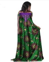 2018 Новый модный стиль в африканском стиле Большие размеры женские платье M-6XL