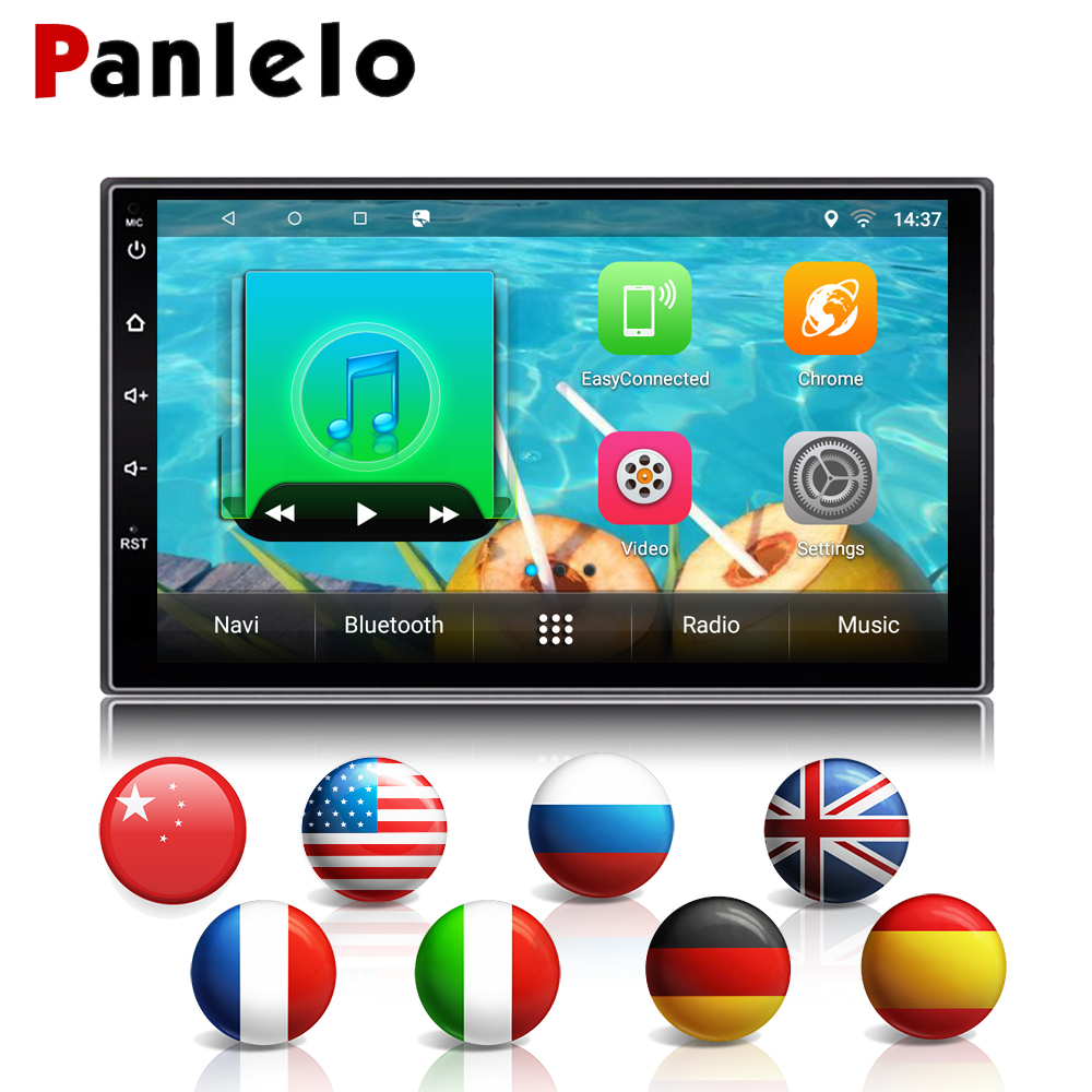 Panlelo S2 Universal Android Double 2 Din Auto Radio 7'' Touch Screen Quad Core 1GB RAM 16GB ROM Car Radio Stereo GPS Navigation android 6 0 car stereo quad core 2 din 7 inch hd touch screen auto radio am fm rds 1 2ghz 1gb ram 16gb rom rear view camera bt
