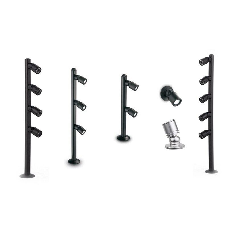 4pcs  lot 12v input 5w led spotlight desk stand pole post lamp spot light jewelry phone store