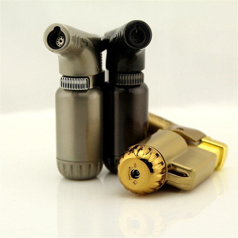 Image 2 - Free Shipping Outdoor Compact Butane Jet Lighter Torch Fire Windproof Portable Spray Gun Metal Lighter 1300 C NO GAS-in Matches from Home & Garden