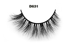 Free shipping D631 1pcs/lot 3D hot sale wholesale beautiful long crisscross strip mink fur lashes