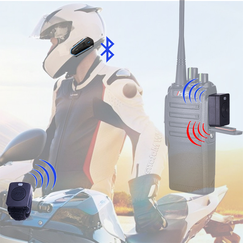 Walkie Talkie Hands-free Helmet Bluetooth Headset Wireless Headphones For Motorcycle Helmet Locomotive helmet Earphone Baofeng