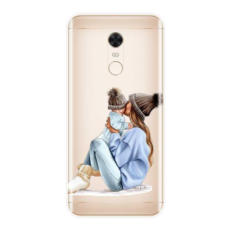 Czarna dziewczyna dziecko kobiety mama etui na telefony dla Pocophone F1 Xiaomi Redmi uwaga 4 4X 5A 6 Pro Prime S2 4A 6A 5 Plus silikonowa tylna okładka
