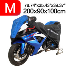 M 200x90x100cm Waterproof 190T Black Blue Design Covers Dirt Motors Dust Rain Snow UV Protector Cover Indoor Outdoor D45 200x90x100cm black silver 190t waterproof motorcycle covers outdoor indoor motorbike scooter motor rain uv dust protective cover