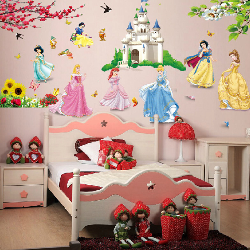 Aliexpress.com : Buy Large Snow White Dwarfs Wall Stickers Home Decor Wall  Sticker For Girl Kids Rooms Wall Decals Princess Girls Room Free Shipping  From ... Part 52