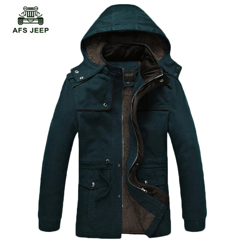 Free shipping 2017 new fashion winter cotton plus velvet thick hooded coat / men's solid color warm casual slim jacket 175hfx