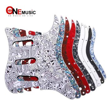 Multi Color 3 Ply 11 Holes SSS Guitar Pickguard Anti-Scratch Plate For ST FD Electric