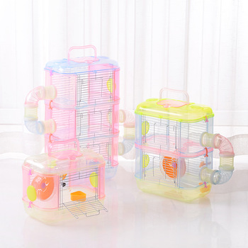 Transparent Hamster Cage Multi Layer Small Pet Cages Supplies Toy Hamster DIY Collocation Hamster House Recommended Goods