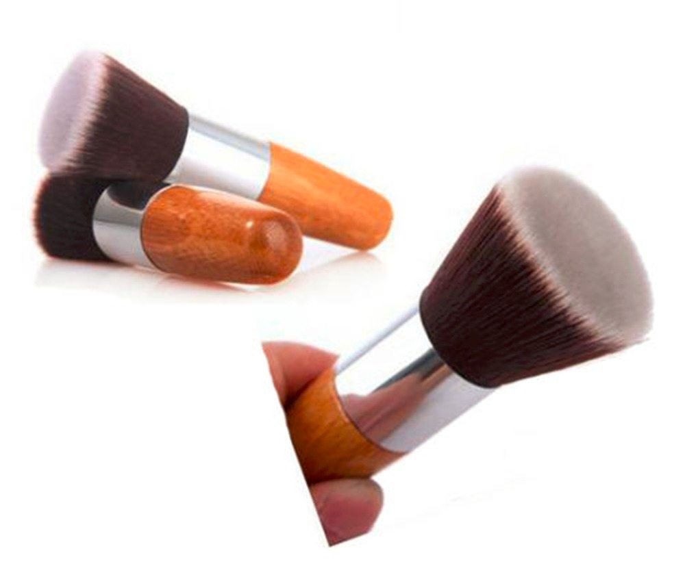 Professional Makeup Brush Flat Top Brush Foundation Powder beauty Cosmetic Make up Brushes Tool Wooden Kabuki msq cosmetic single make up powder foundation brush blush angled flat top base liquid cosmetic makeup brush tool