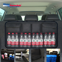 Car Trunk Backseat Storage Bag Organizer SUV Seat Interior Oxford Back Bags Mesh Net Box Pocket Accessories   Stowing     Tidying
