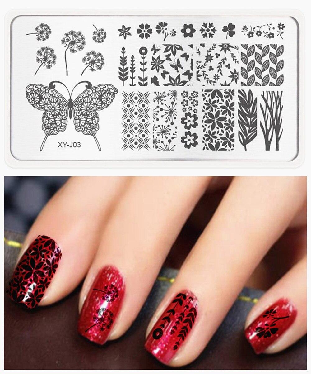 Płytki do tłoczenia paznokci Kwiat Winorośli Nail Art Stamp - Sztuka zdobienia paznokci - Zdjęcie 1