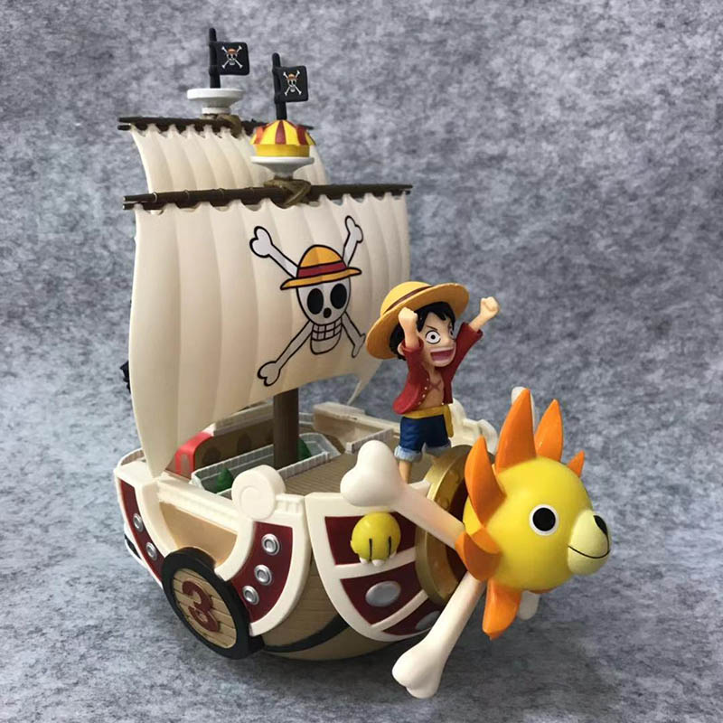 Anime 1/8th Scale One Piece The Straw Hat Pirates Thousand Sunny Monkey D Luffy Action Pvc Figure Toy Brinquedos 21cm A Great Variety Of Goods Action & Toy Figures
