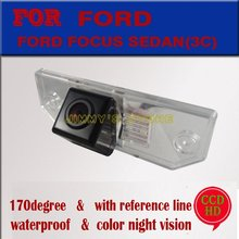 CCD HD night vision car rearview camera parking monitor reverse monitor for FORD FOCUS SEDAN(3C)/MONDEO for  Ford C-MAX