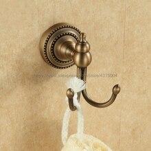 Gancho para ropa Acabado en latón antiguo, percha elegante para Albornoz, accesorios de baño Nba091