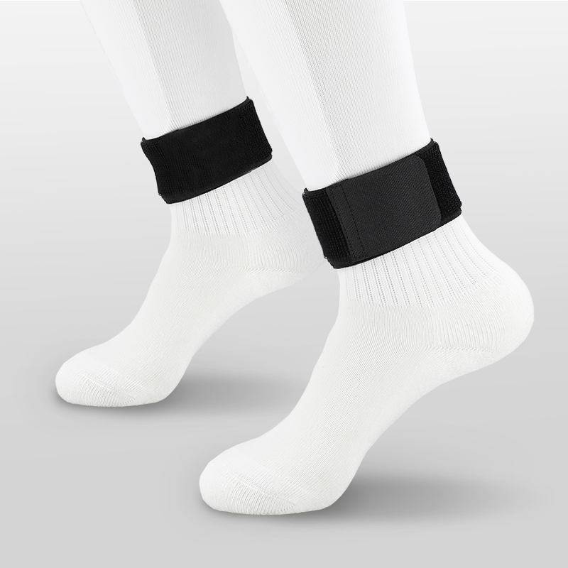 High Quantity Fixed Leg Sports Protective Gear Belt Soccer Socks Leggings Guards Guardian Calf Fixing Strap Black White