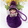 10Psc Super Cute Woolly Hats Monchhichi Lucky Doll Keychain Pendant For Handbag Purse Ornament Charms Gorgeous Gift For New Year
