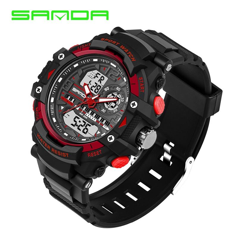 Sanda Watch Waterproof Men Watch Electronic Silicone Digital Sport Watch Relogio Masculino Watch 2017 And Digestion Helping Watches Digital Watches