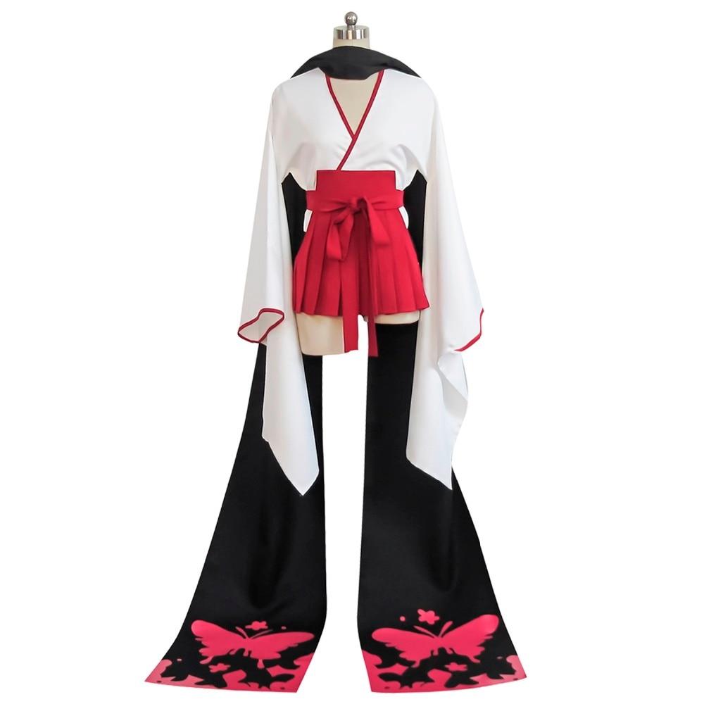 Anime Inu x Boku SS Shirakiin Ririchiyo reversion Vision Cosplay Kostüm Kimono...