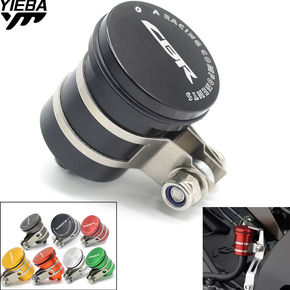 for honda CBR500R CB599 cbr 600 cb 750 cb400 cb1300 cbr 1000 rr Motorcycle Fluid Reservoir Billet Rear Brake Clutch Tank Oil Cup