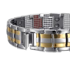 Image 3 - RainSo мужской браслет 2018 Популярные Модные браслеты, Прямая поставка и браслеты Шарм германий магнитный H мощность Титан