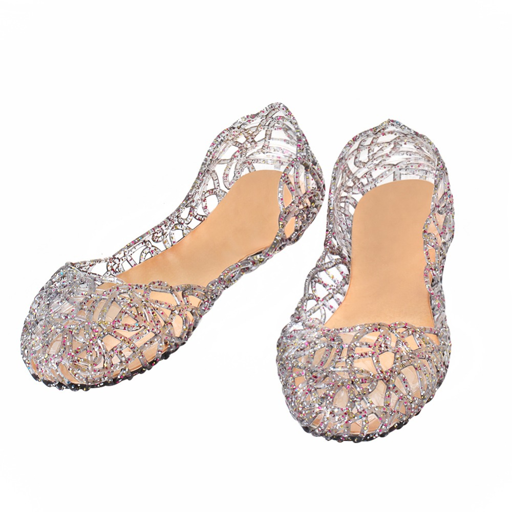 summer breathable women shoes Hollow Out Mesh Flats jelly sandals nest mesh flats