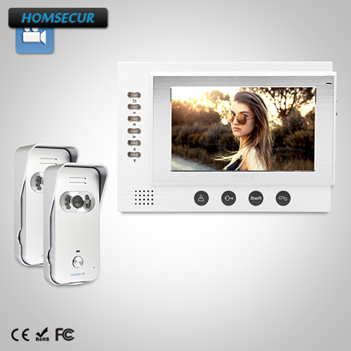HOMSECUR 7 Video Door Phone Intercom System+Dual-way Intercom for Home Security