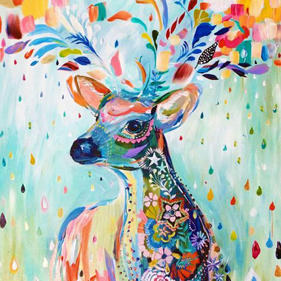 3D diamond painting deer paint cross stitch full square drill rhinestone diamond mosaic wall sticker room Decoration ZY519