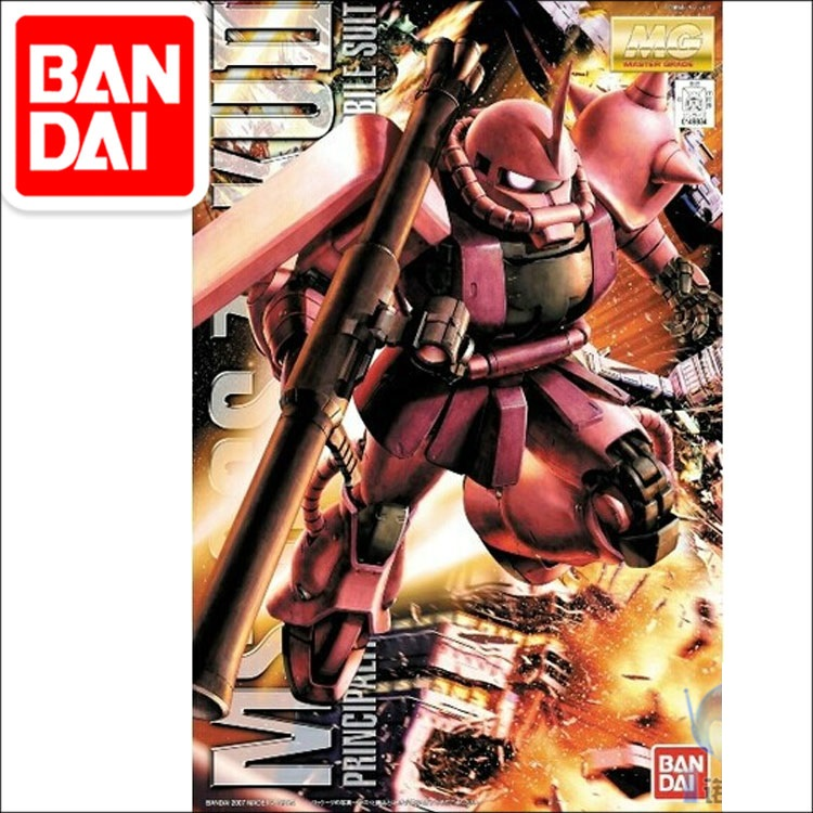 Original Gundam MG 1/100 Model MS-06S ZAKU 2 PRINCIPALITY OF ZEON CHAR AZNABLE Mobile Suit THE ORIGIN GTO Kids Toys BANDAI