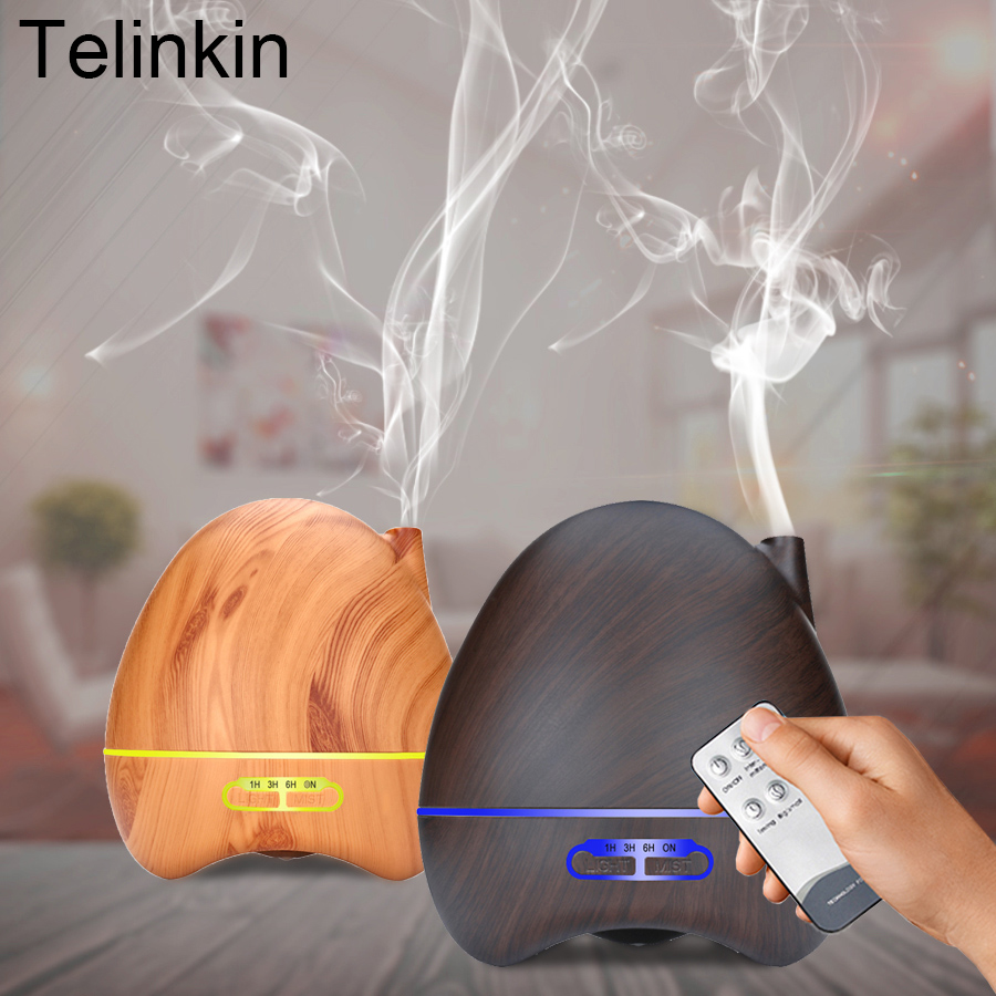 300ml Ultrasonic Aroma Diffuser Wood Grain Aromatherapy Essential Oil Cool Mist Humidifier for Large Room цена и фото