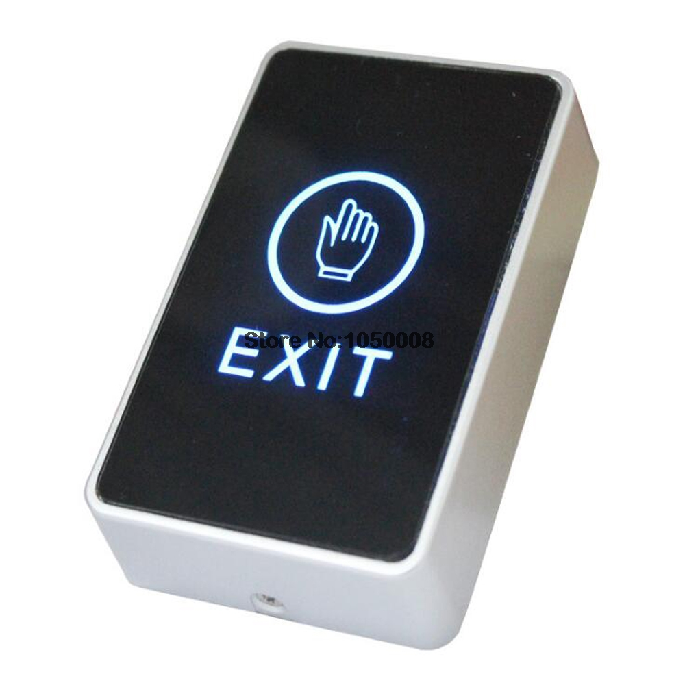 Infrared Door Exit Button Touch Release Push Switch Contactless Bule Backlight for Electronic Door Lock Access Control Systems diysecur infrared contactless bule backlight touch exit button door release switch for access control free shipping