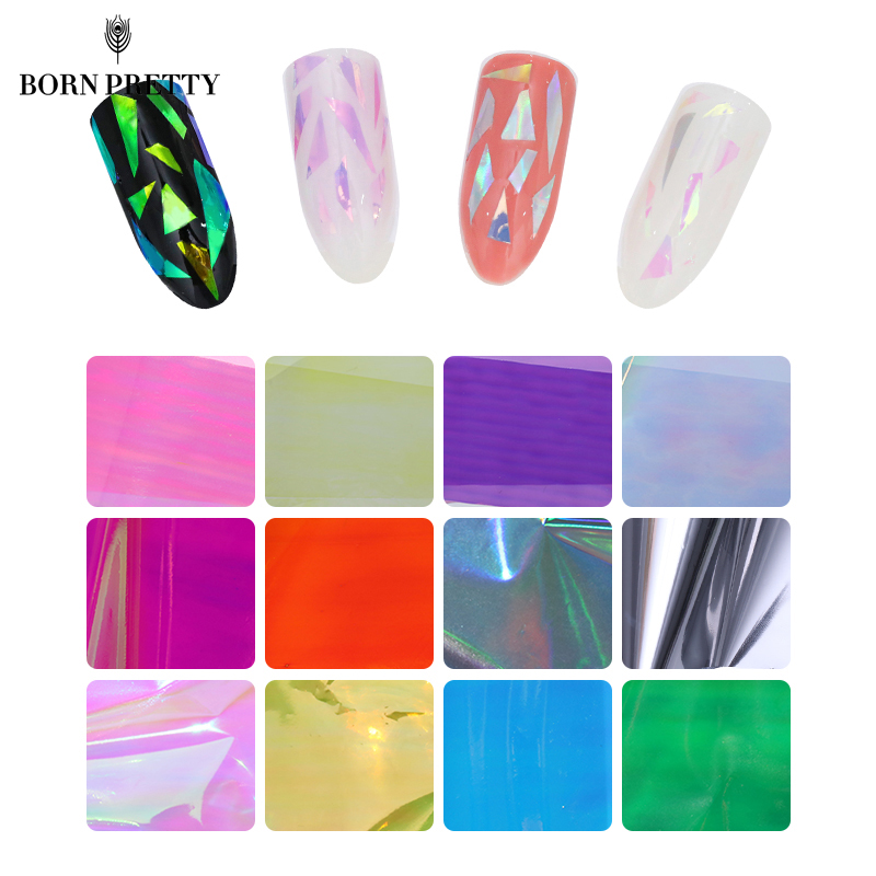 20Pcs/set Starry Sky Nail Foils Nail Art Transfer Stickers Decal Fashion Broken Glass DIY Nail Tips Decorations