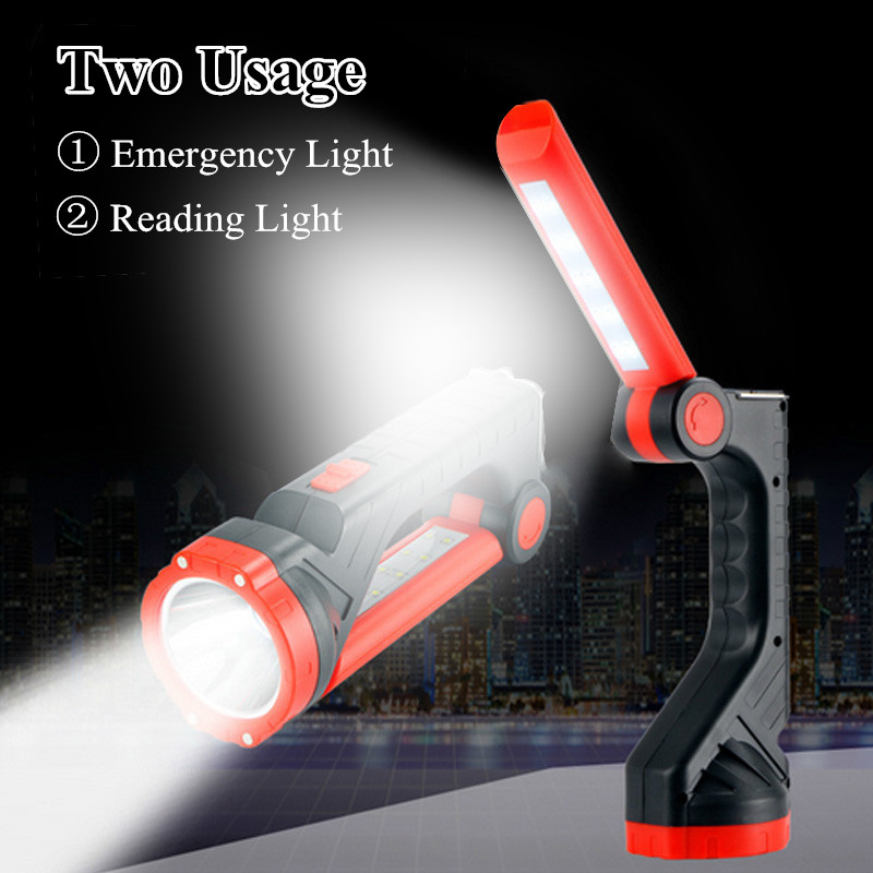 DC 5V 2835 SMD Solar Power Light Rechargeable Portable 10 LED Flashlight Camping Tent Light Lantern Lamp Emergency Light