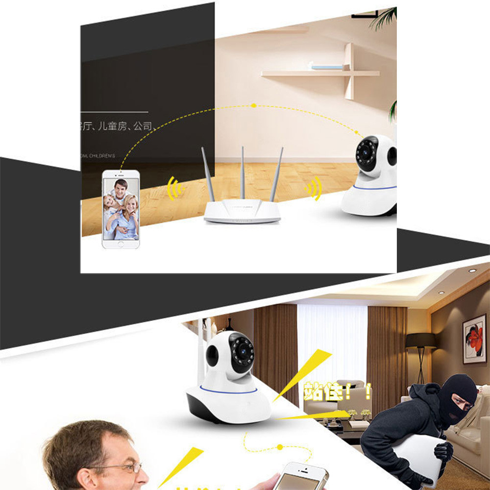 Wireless WIFI HD 1080P Pan Tilt Security Mini Camera IR Night Home Webcam mini CCTV Home Camara Jun1