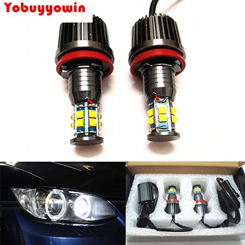 Error Free White 120W CREE Chips LED H8 LED Angel Eyes Halo Ring Marker Light Bulbs Xenon White 6000K for BMW E92 E93 X5