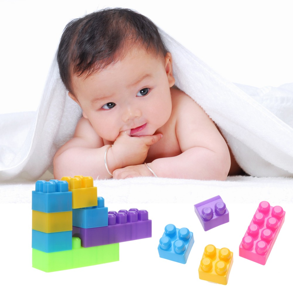 46Pcs Mini Blocks Plastic Children Kid Educational Building Self-Locking Bricks Toy Plastic Block Set for Kids Gift 81pcs set assemblled gear block montessori educational toy plastic building blocks toy for children fun block board game toy