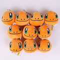 Monsters Go Charmander Mini Plush Pendant Toys Soft Stuffed Animal Dolls with Keychain 6cm 10pcs/lot