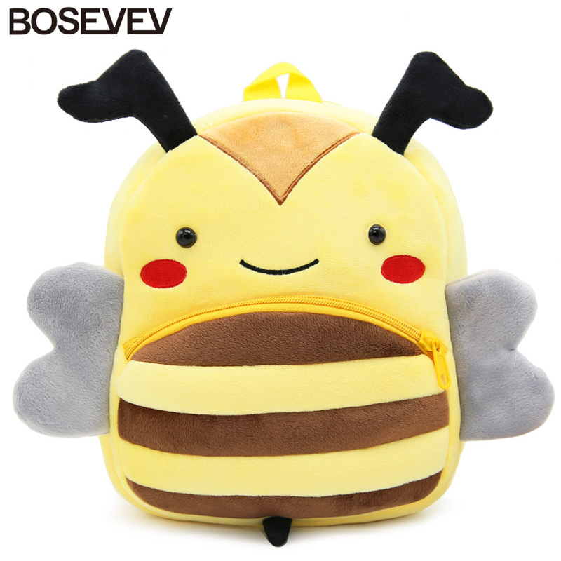 2017 3D Cartoon Plush Children Backpacks Mini kindergarten Schoolbag Animal Monkey Kids Children School Bags Girls Boys Backpack