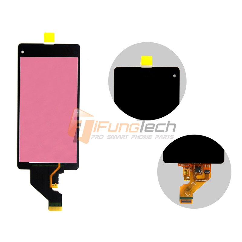 Free DHL 5PCS Black LCD Display For Sony Xperia Z1 Mini Compact D5503 M51w touch screen digitizer Assembly dhl 10pcs 2015 new lcd display touch screen digitizer assembly with frame for sony xperia z1 mini d5503 z1c m51w free shipping