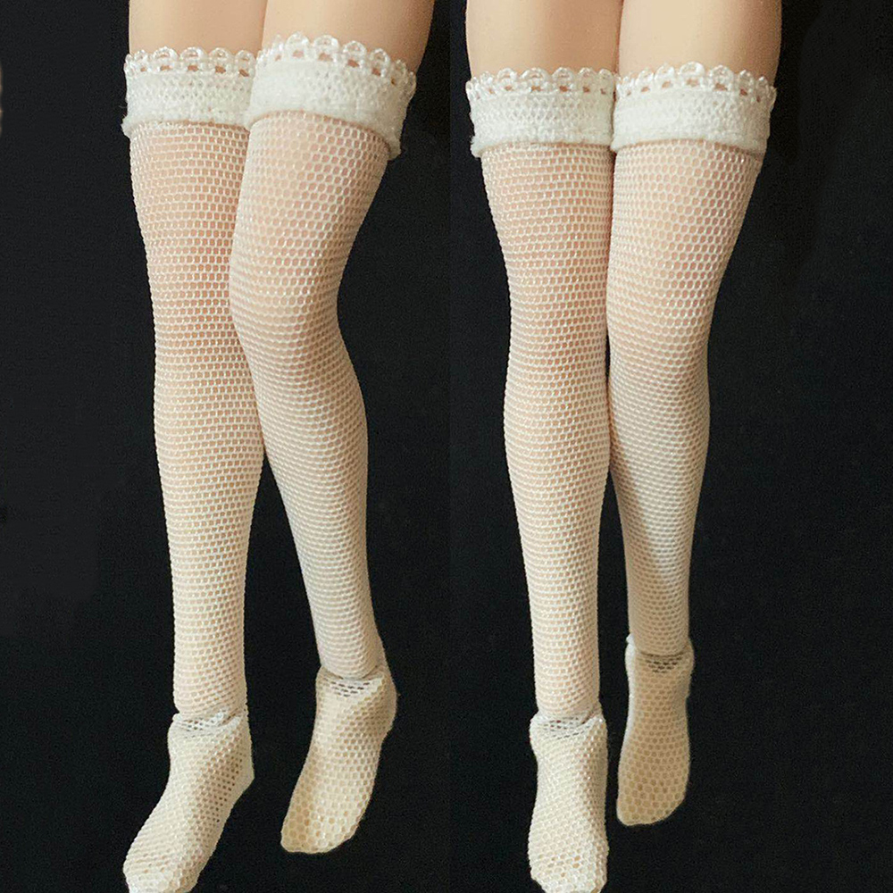 Toys & Hobbies White/black Colors 1/12 Scale Female Figure Accessory Lace Stockings Fishnet Socks Clothes Fit 1:12 Woman Action Figure Body Quell Summer Thirst