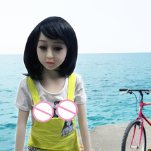 New Arrival 128CM RealLife Cute Pretty Girl Real Sex Doll Realistic Skin Flat Chest Love Doll With Skeleton