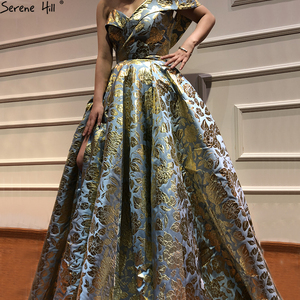 Image 2 - Newest Designer Embroidery Long Dress Evening 2020 Sexy Off Shoulder Fashion Evening Gowns Serene Hill LA6525
