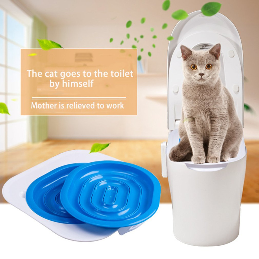 Creative Cat Puppy Toilet Training Kit Plastic Indoor Litter Tray Wc Pet Toilet Trainer Cat Litter Cleaning Supply Cat Product