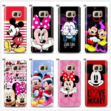 Mickey Minnie Phone Case For Samsung Galaxy J3 J5 J7 A5 A7 2016 2017 Cover Soft Silicone Cases For Samsung J4 J6 A6 A8 Plus 2018(China)
