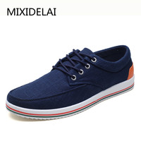 MIXIDELAI Mens Casual Shoes Man Flat Breathable Mens Fashion Classic Outdoor Shoes Mens Canvas Shoes For Men Zapatos de hombre