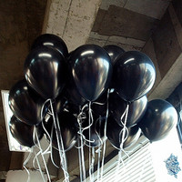 20pcs Lot 10inch 1 5g Black Latex Balloons Air Balls Inflatable Wedding Party Decoration Birthday Kid