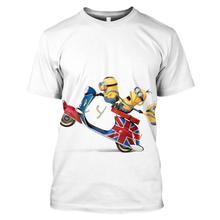 T-shirt pour hommes Dieu vole papa petit homme jaune Impression 3D Casual occasionnel Sweat-shirt populaire à manches courtes